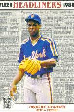 1988 Fleer Headliners Baseball Cards   005       Dwight Gooden